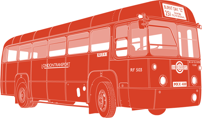 Side profile illustration of AEC Regal IV MXX 480