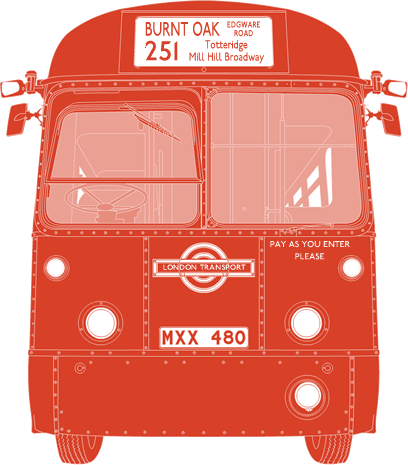 Front illustration of AEC Regal IV MXX 480