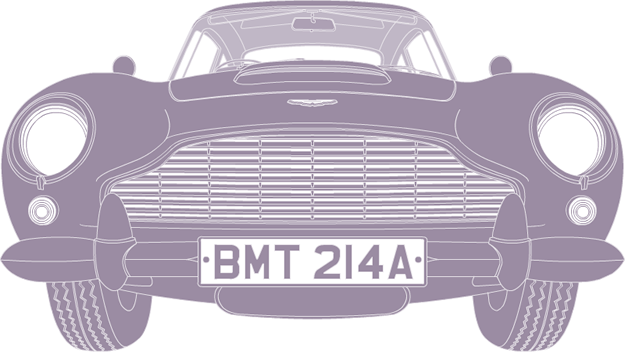 Front illustration of Aston Martin DB5 BMT 216A