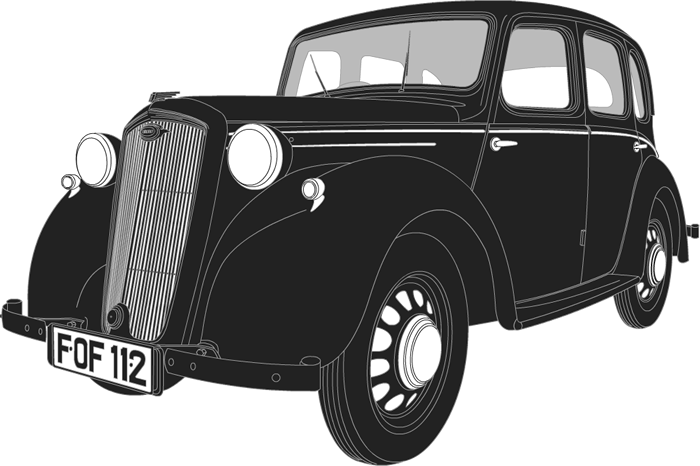 Side profile illustration of Wolseley Eight FOF 112