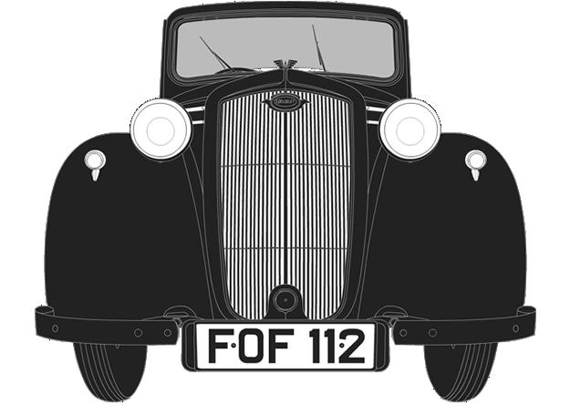 Front illustration of Wolseley Eight FOF 112