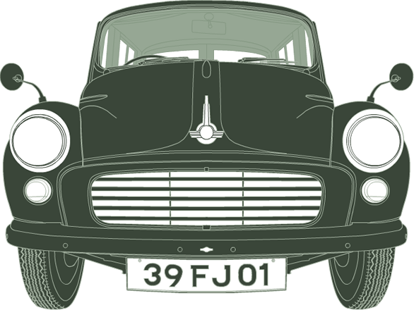 Front illustration of Morris Minor Traveller 39 FJ 01