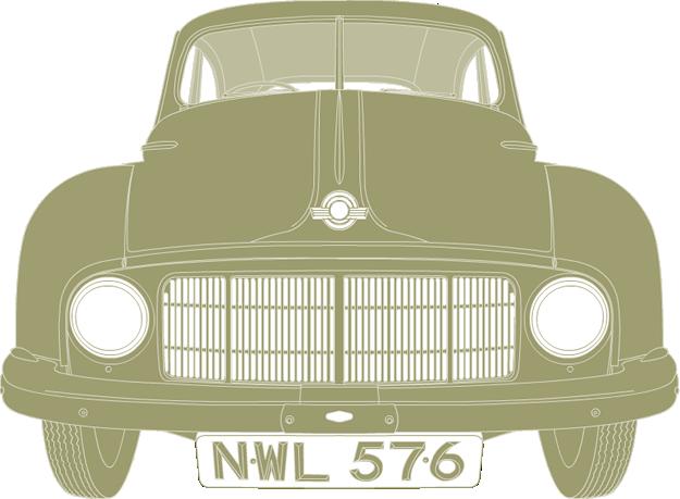 Front illustration of Morris Minor MM NWL 576
