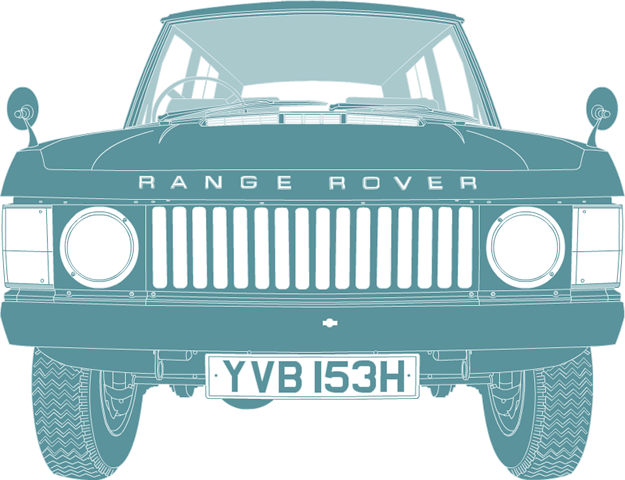 Front illustration of Range Rover YVB 153H