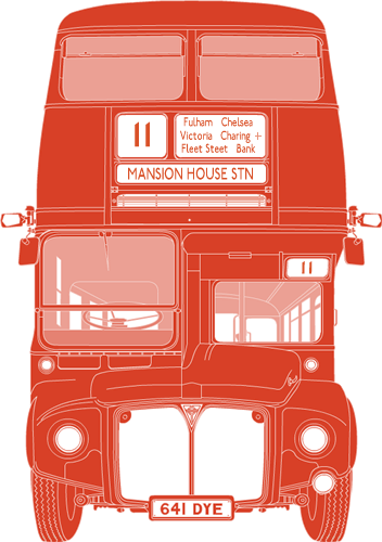 Front illustration of AEC Routemaster 641 DYE