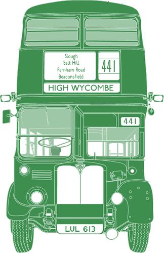 Front illustration of AEC Regent III LLU 613